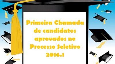 SEDUC divulga a Primeira Chamada de candidatos aprovados no Processo Seletivo 2016.1