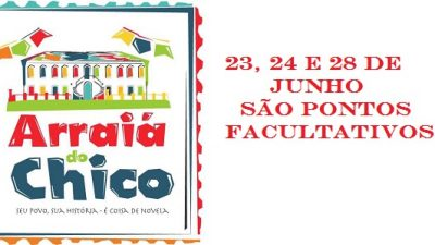 Dias 23, 24 e 28 de junho serão pontos facultativos em São Francisco do Conde