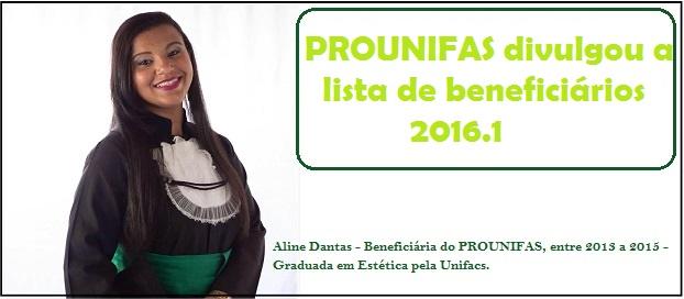 PROUNIFAS divulga lista com cerca de 650 beneficiários de 2016.1