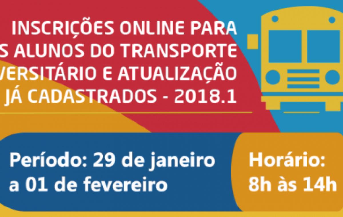 PROUNIFAS abre inscrições ONLINE para acesso ao Serviço de Transporte Universitário e convoca usuários para recadastramento