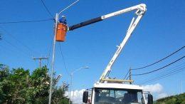 Equipes da SESCOP realizaram melhorias na iluminação pública do município