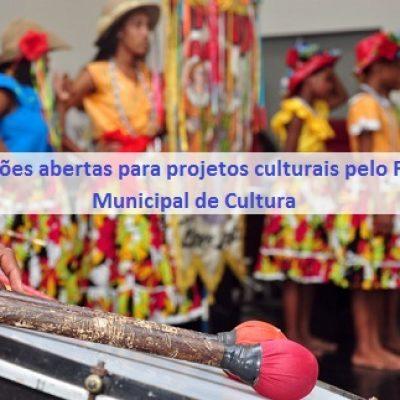 SECULT está com inscrições abertas para projetos culturais pelo Fundo Municipal de Cultura