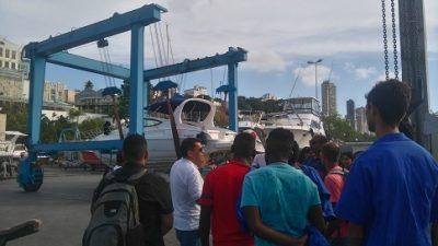 Turma do curso de Mecânica Náutica da SEDEC realizou visita técnica a Bahia Marina