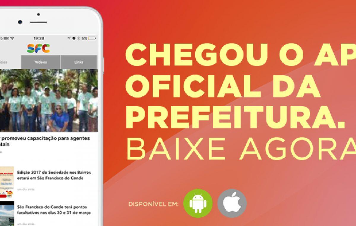 Chegou o aplicativo e novo portal da Prefeitura de São Francisco do Conde