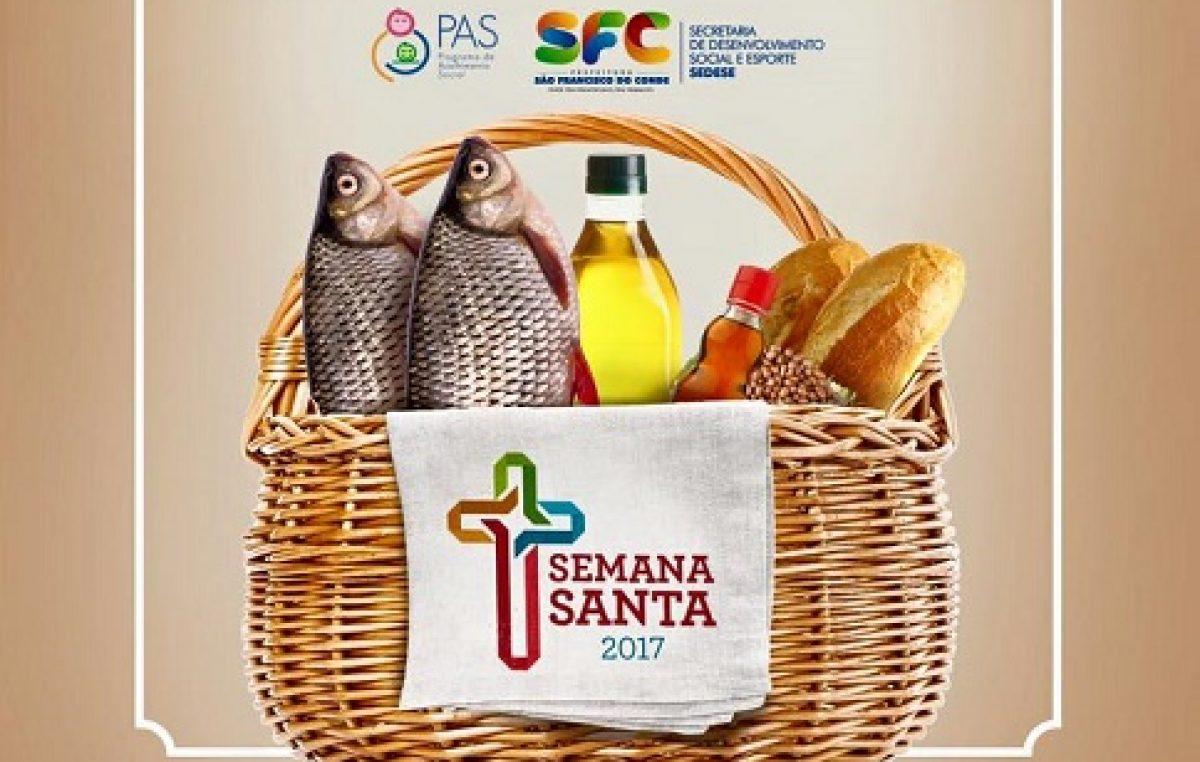 Semana Santa: Entrega de peixes e cestas iniciou nesta segunda-feira (10)