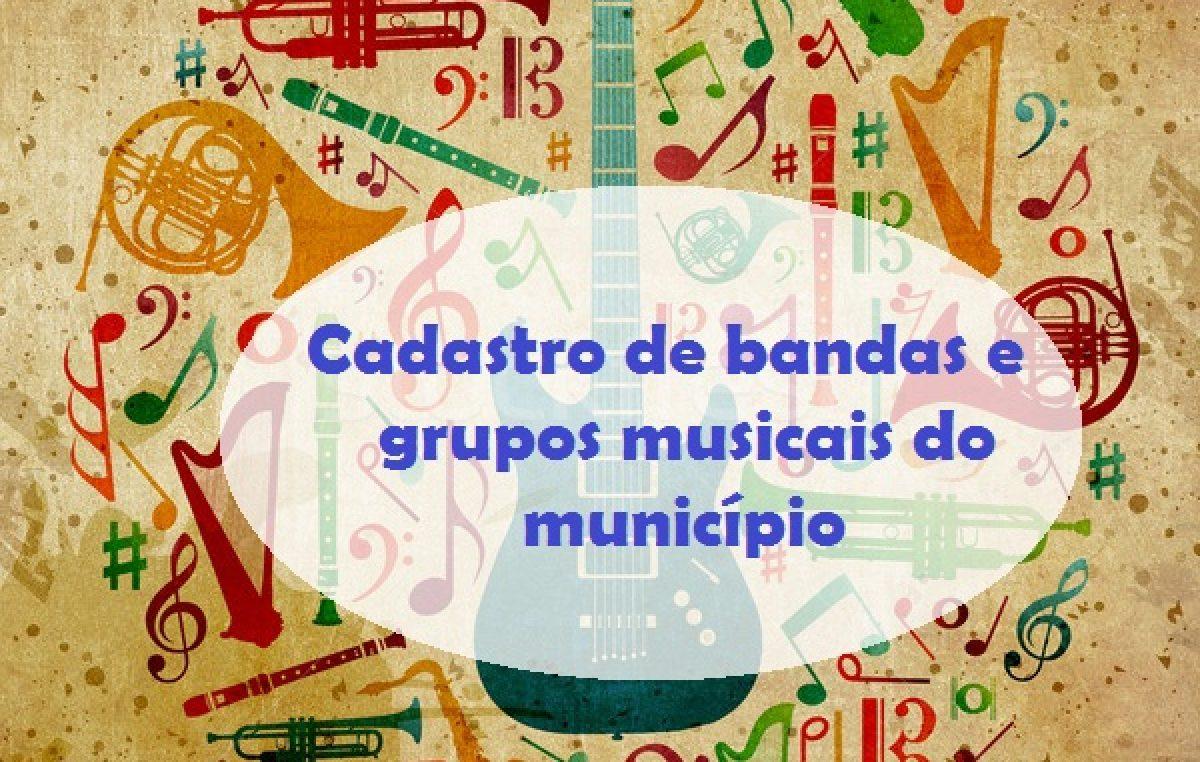 Cadastro e atualização cadastral de bandas e grupos musicais foi prorrogado até o dia 07 de junho (sexta-feira)