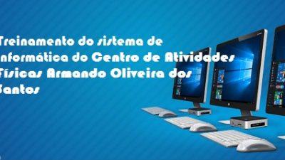 Profissionais do Centro de Atividades Físicas Armando Oliveira dos Santos receberão treinamento no dia 11 de abril