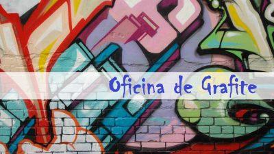 Oficinas de Grafite e Cidadania acontecerão de 24 a 29 de abril