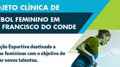 SEDESE lançará Clínica de Futebol Feminino em São Francisco do Conde