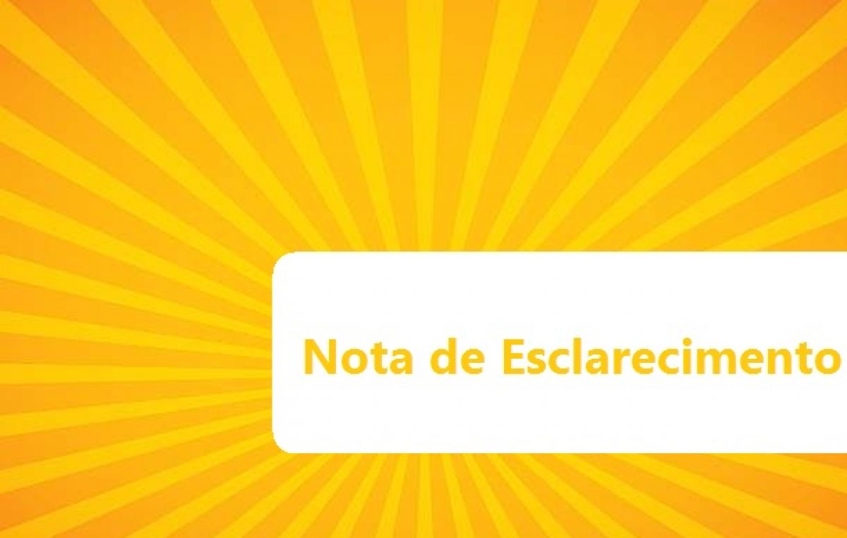 Nota de esclarecimento sobre o cancelamento do Arraiá do Chico 2017
