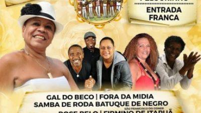 São Francisco do Conde iniciou a participação no Festival Samba de Beco em Beco em Salvador, na última quarta (17)
