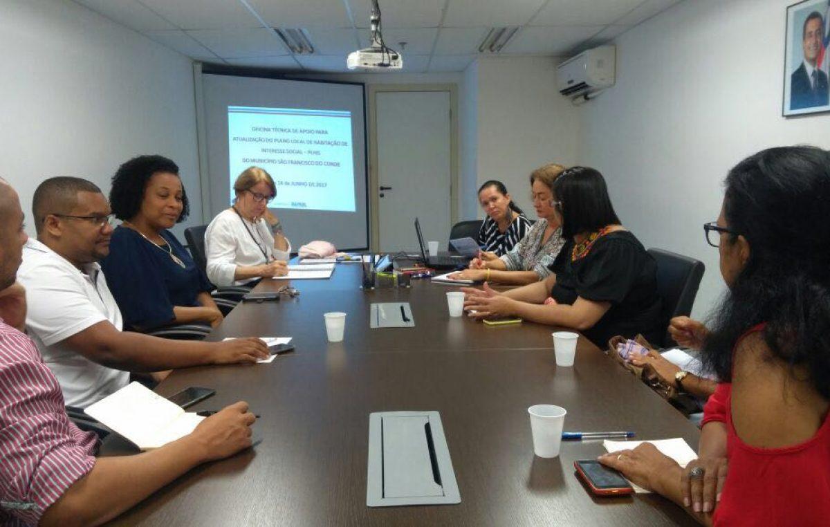 Secretária de Planejamento e técnicos da SEPROJE participam da Oficina Técnica de Apoio para Atualização do Plano Local de Habitação de Interesse Social
