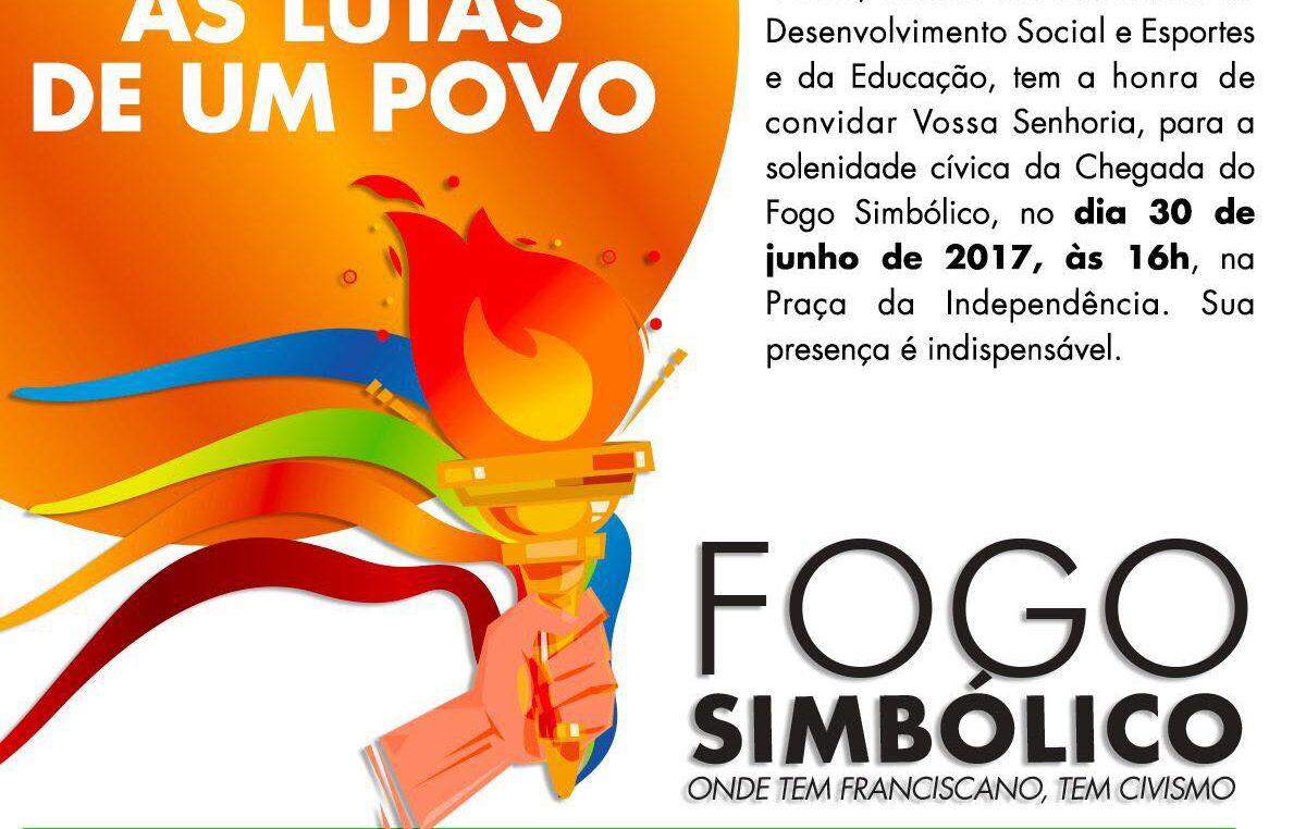 Chegada e saída do Fogo Simbólico acontecem respectivamente nos dias 30 de junho e 01 de julho em São Francisco do Conde