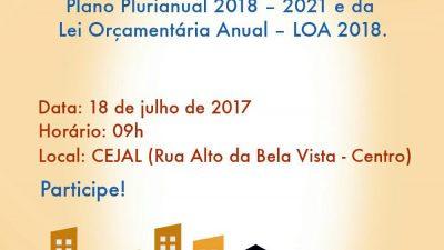 Prefeitura convoca comunidade para reunião que abordará Plano Plurianual na terça (18)