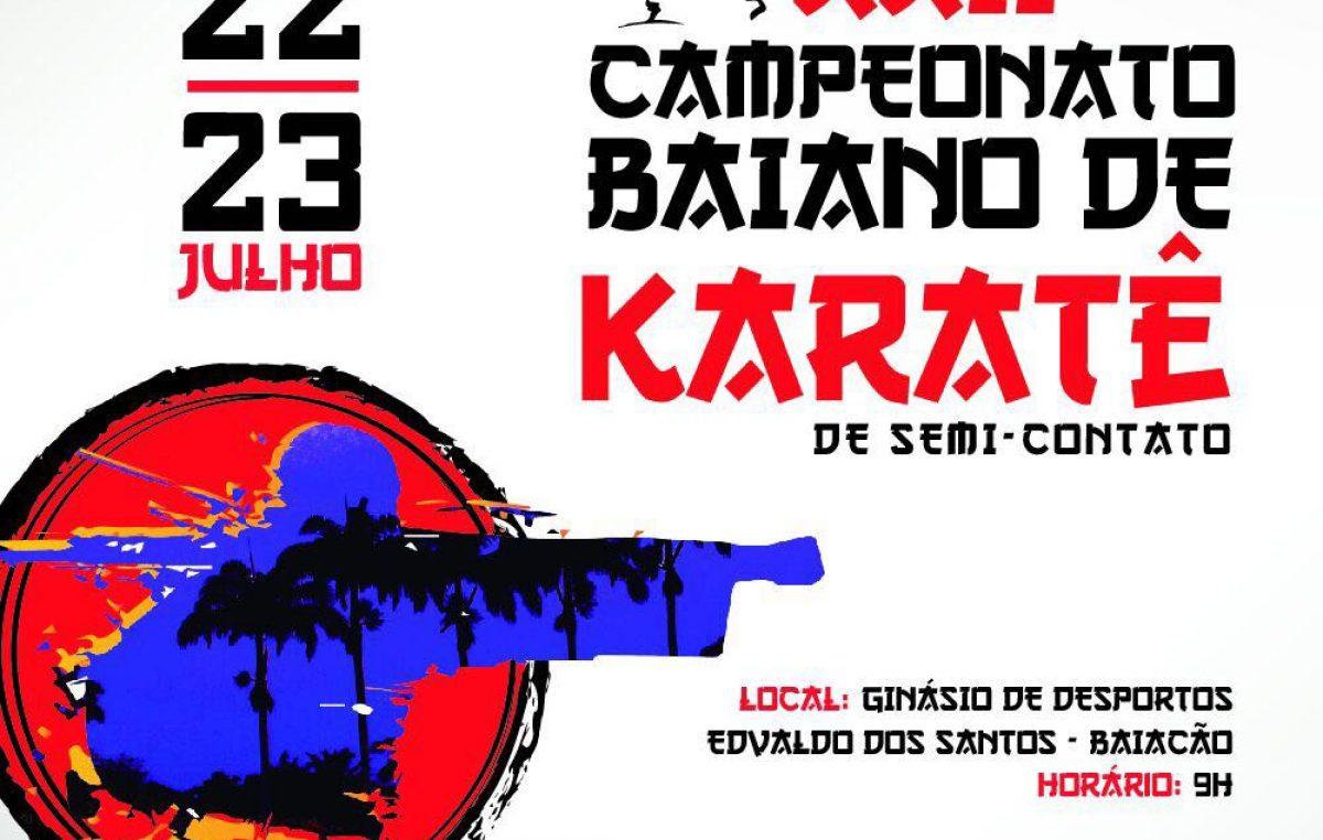 XXII Campeonato de Karatê de Semi-Contato acontecerá nos dias 22 e 23 de julho