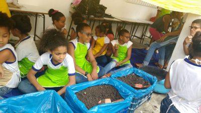 Início das atividades do projeto Horta Escolar