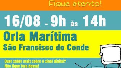 São Francisco do Conde receberá a Van da TV Digital no dia 16 de agosto