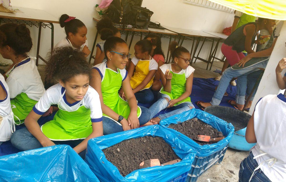 Projeto Horta Escolar chega ao bairro Jabequara da Areia