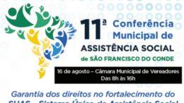 São Francisco do Conde vai promover Conferência Municipal da Assistência Social