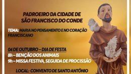 Missa e Procissão celebram o Dia de São Francisco de Assis nesta quarta-feira (04)