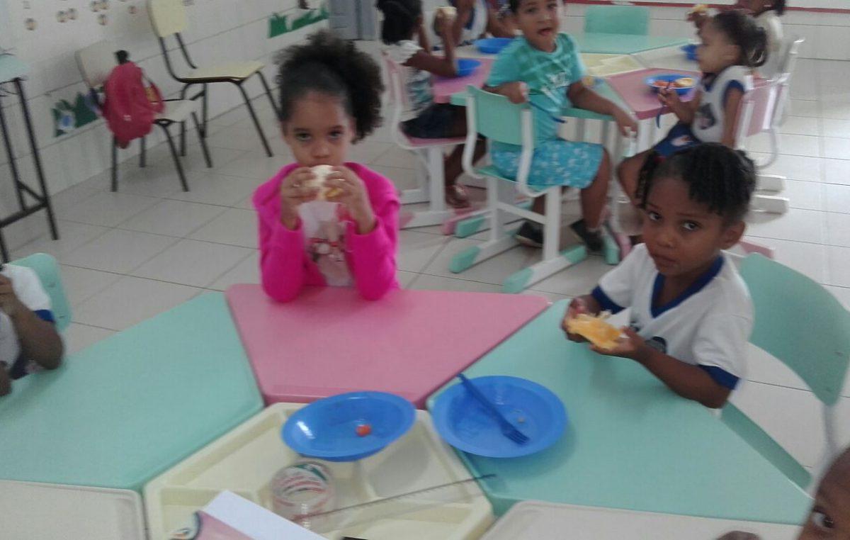 Creche Tio Cláudio incentiva a alimentação saudável