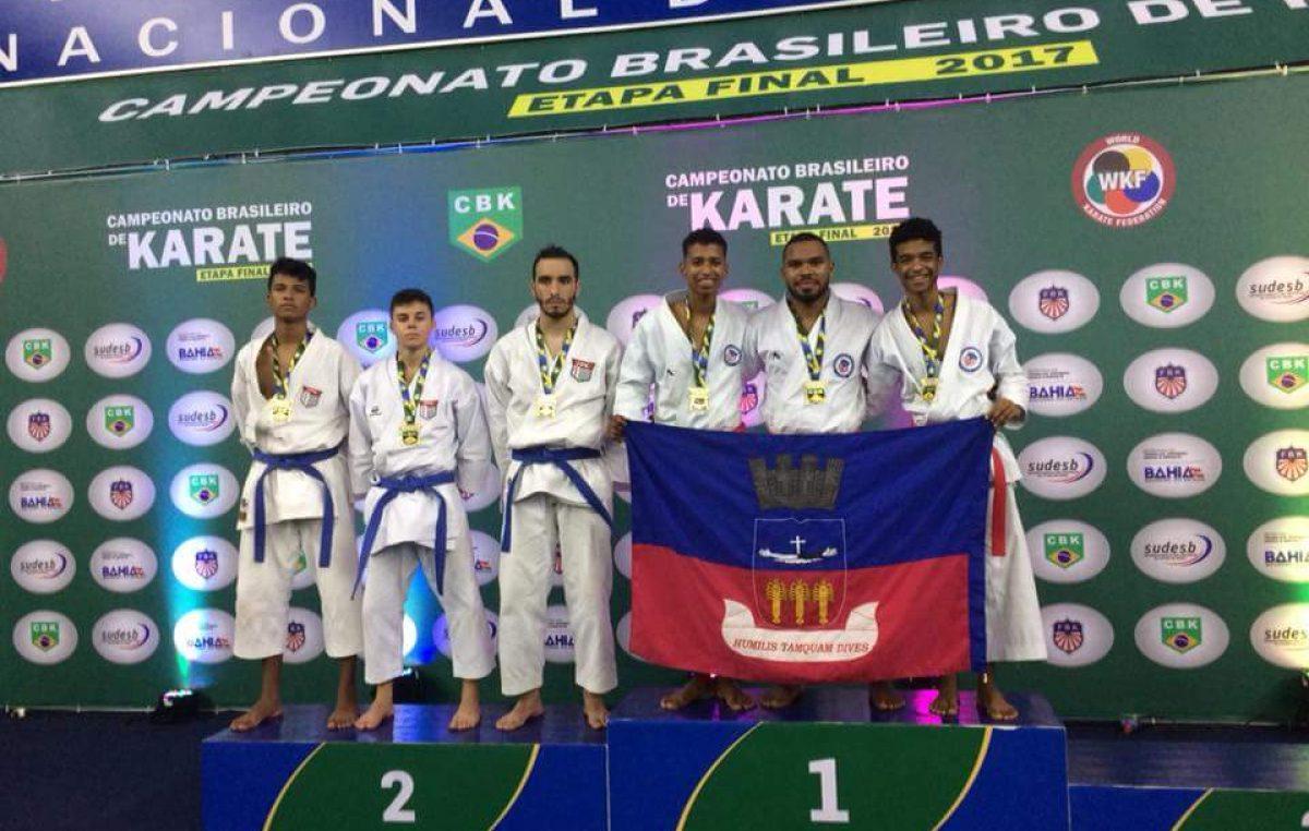 Karatecas franciscanos conquistaram 07 medalhas no campeonato Brasileiro 2017