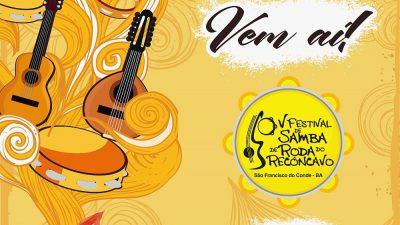 V Festival do Samba de Roda do Recôncavo acontecerá de 20 a 26 de novembro