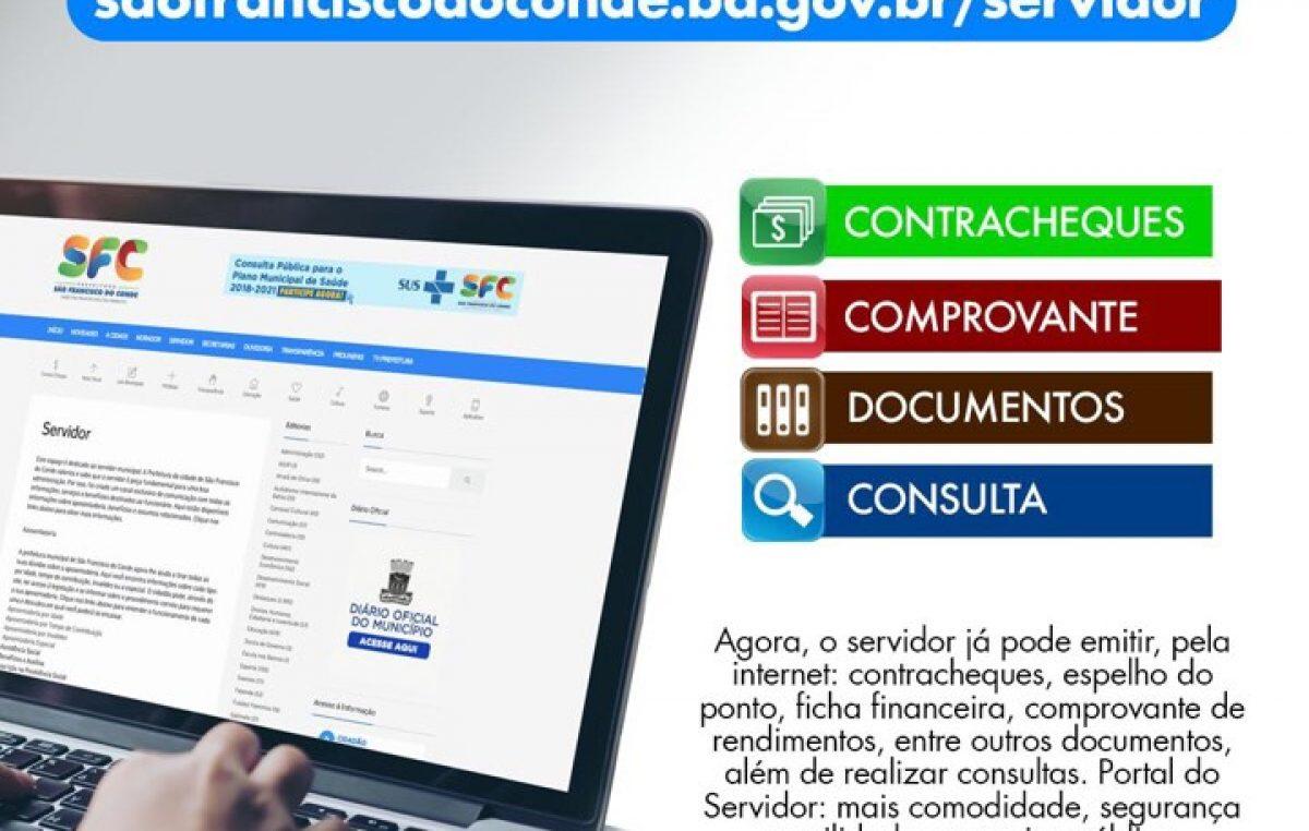Portal do Servidor de São Francisco do Conde foi reativado na sexta-feira (15)