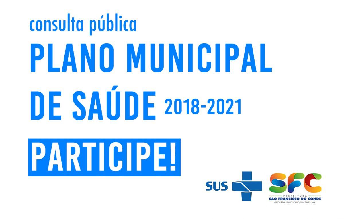 Plano Municipal de Saúde abre Consulta Pública