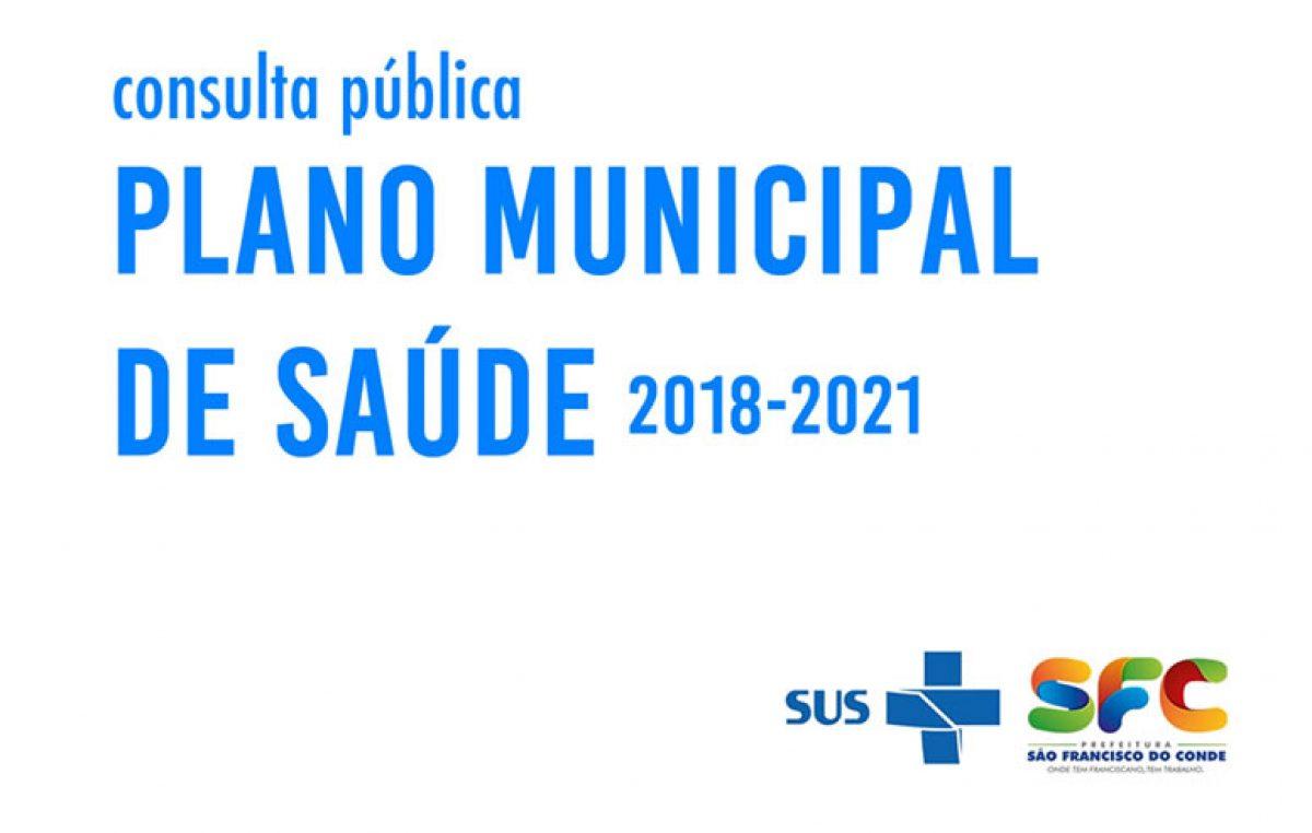 Saúde divulga resultado da Consulta Pública do Plano Municipal de Saúde 2018-2021