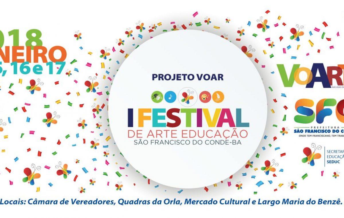 """Programação diversificada para """"voartear"""" no I Festival de Arte Educação de São Francisco do Conde – VoArte"""