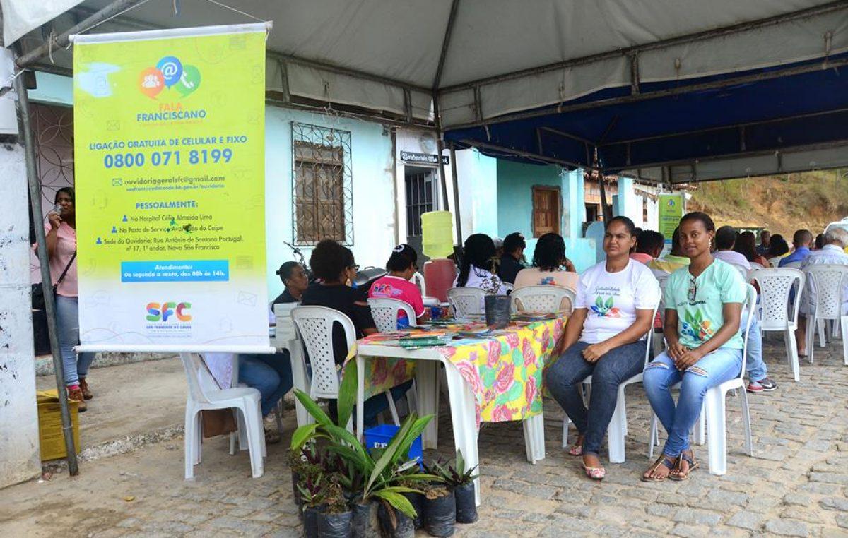 Moradores do bairro do Drena receberam o Projeto Ouvidoria Itinerante nesta terça-feira (06)