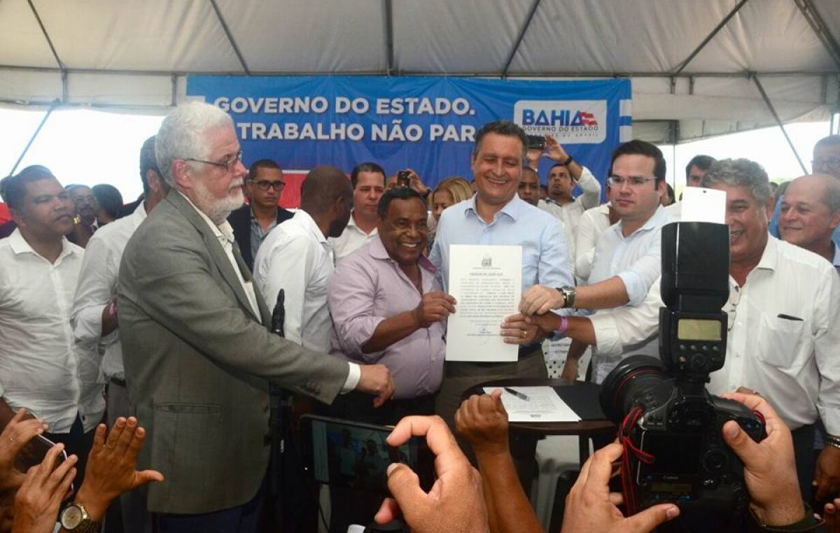 Obras ligadas à Saúde e saneamento básico em São Francisco do Conde são autorizadas pelo governador Rui Costa