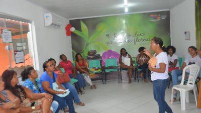 Comemorações em alusão ao Dia Internacional da Mulher teve seguimento nesta quarta-feira (21), no Complexo de Saúde do Caípe de Baixo