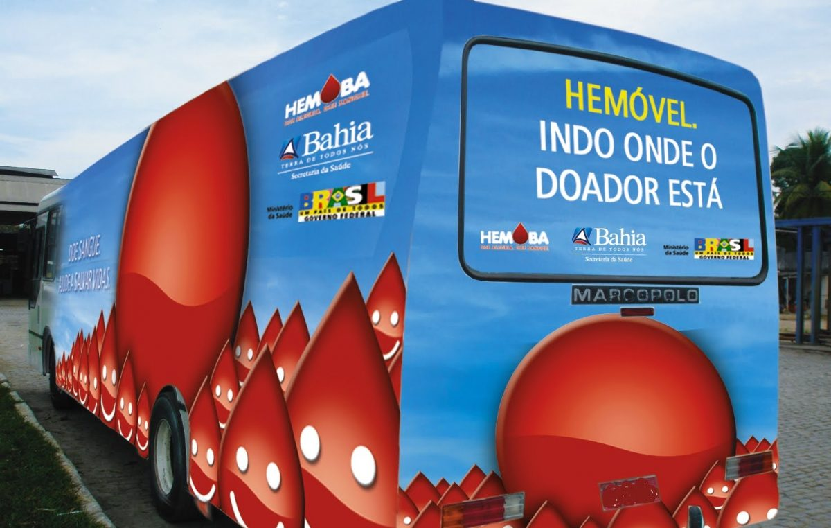 Doação de sangue: Hemóvel estará em São Francisco do Conde dias 25, 26 e 27 de abril