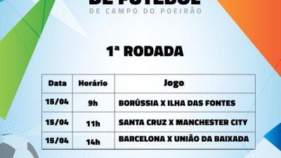 A bola irá rolar neste domingo (15), na 1ª Copa de Futebol de Campo doPoeirão, na Muribeca