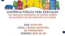 Audiência Pública irá discutir e esclarecer junto a população franciscana sobre a execução dos Serviços Integrados de Limpeza Urbana no município