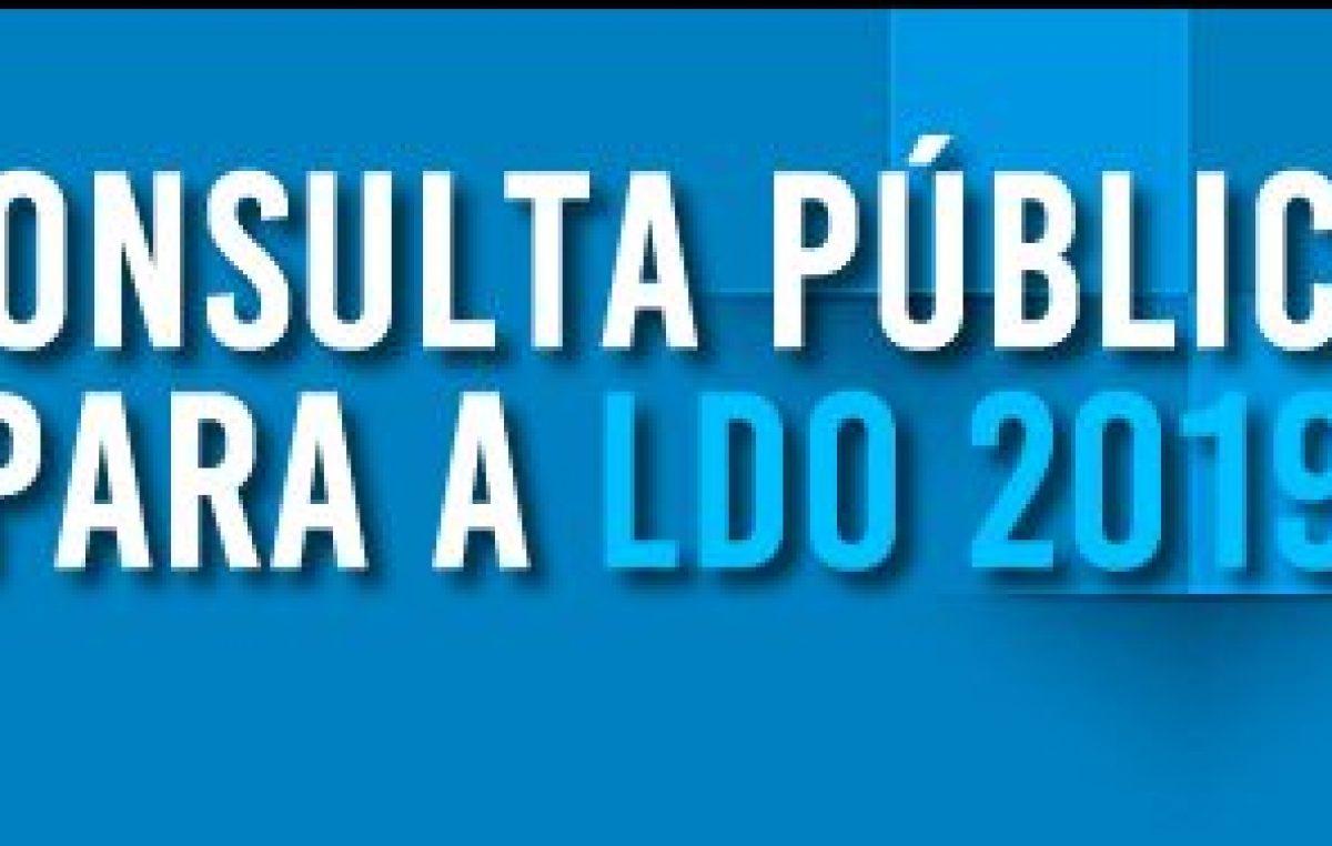 Termina hoje (18) prazo para Consulta Pública LDO 2019: Veja como contribuir para a elaboração da Lei de Diretrizes Orçamentárias