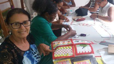 Moradoras do Caípe de Cima e de Baixo participam de cursos de vagonite e pilates