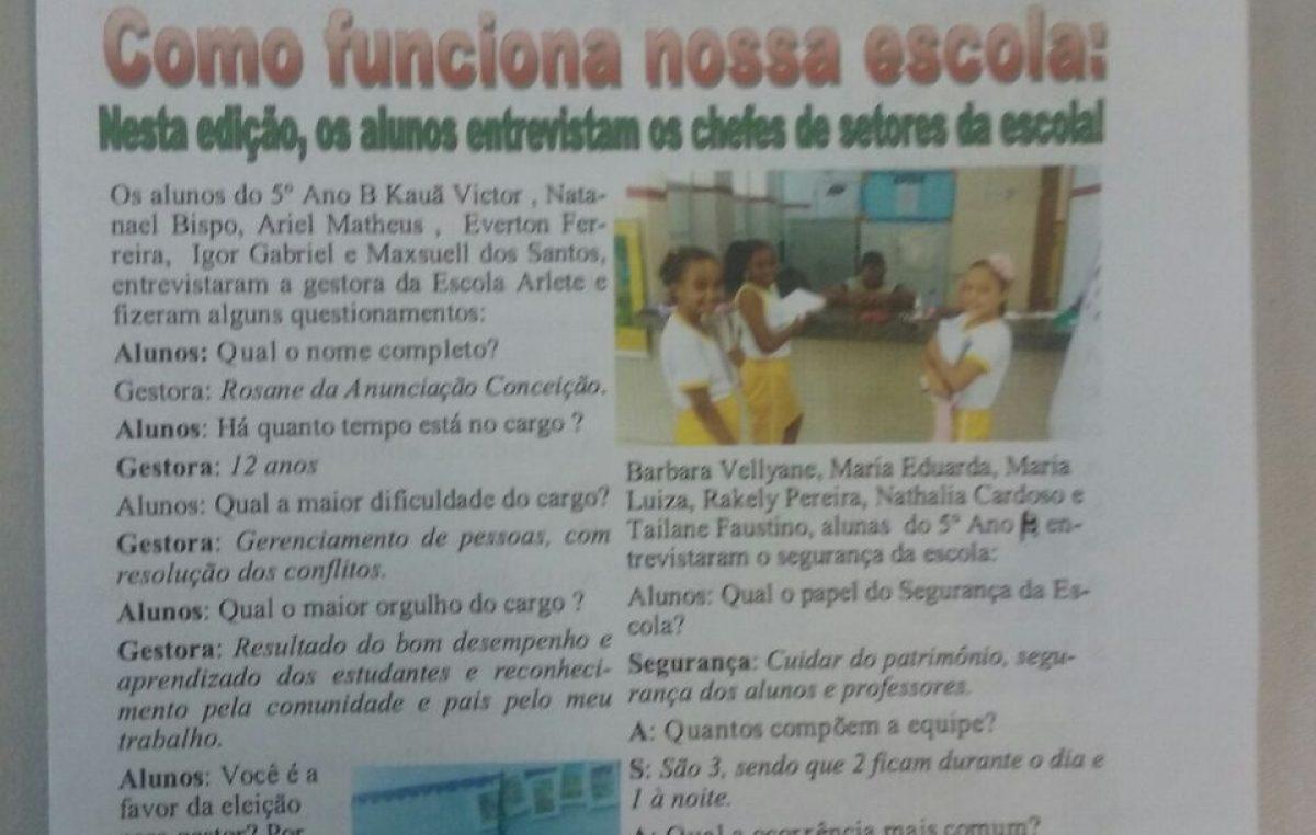 Comunicação em pauta na Escola Municipal Arlete Magalhães