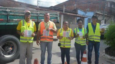 Maio Amarelo: Equipes da Superintendência de Trânsito e Transportes realizam ação educativa para campanha