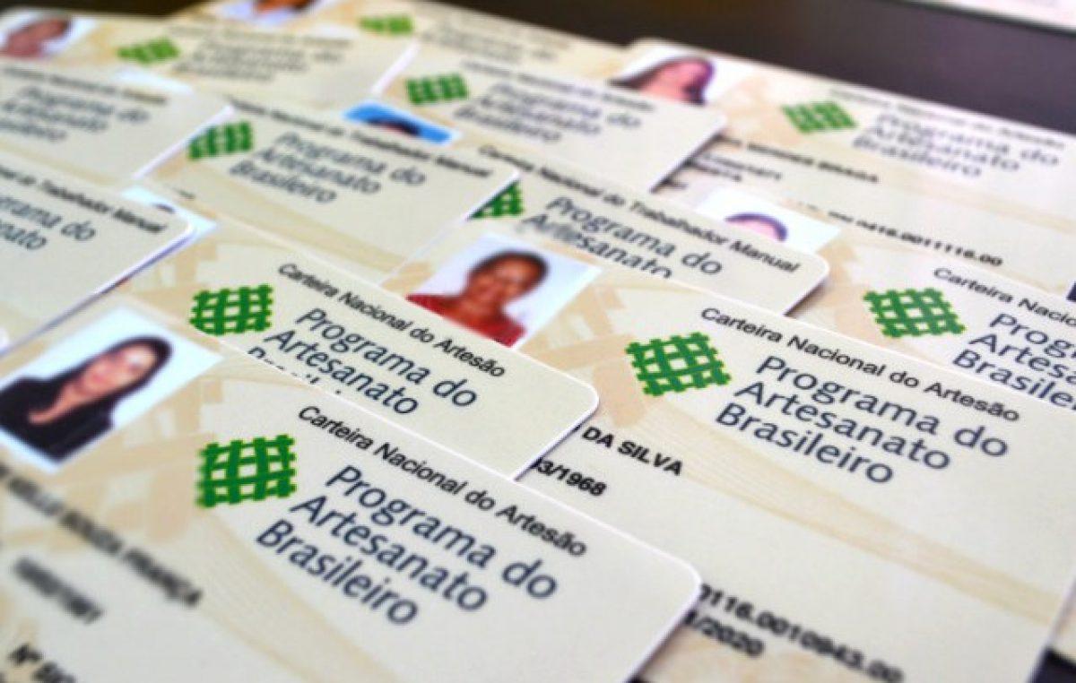 """Data do Cadastro para a emissão da """"Carteira Nacional do Artesão"""" será apenas no dia 10 de maio (quinta-feira)"""