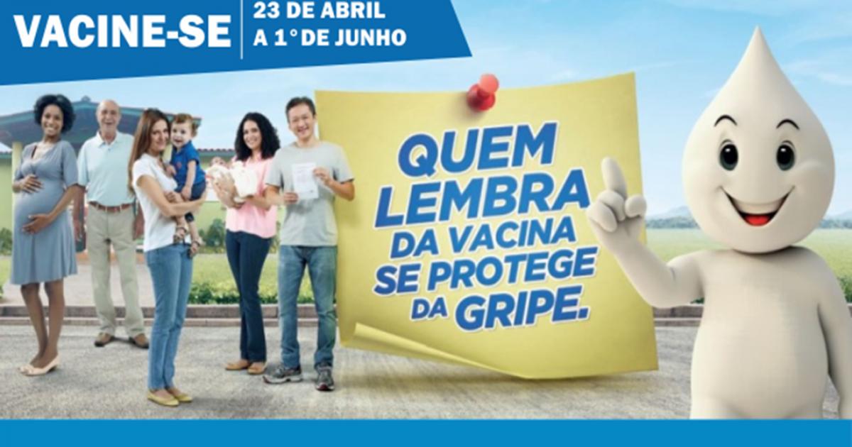Campanha Nacional de Vacinação Contra aInfluenza (Gripe)termina em 01°de junho