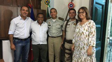 Prefeito recebe visita do Major Paulo César Nunes