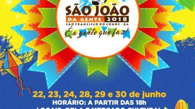"""""""São João da Gente"""", o São João de iniciativa popular, será realizado em São Francisco do Conde"""