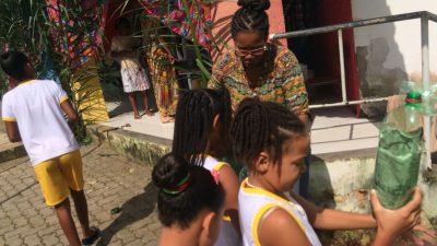 Horta Escolar é cultivada na Escola Municipal Antonina Olímpia Pessoa da Silva