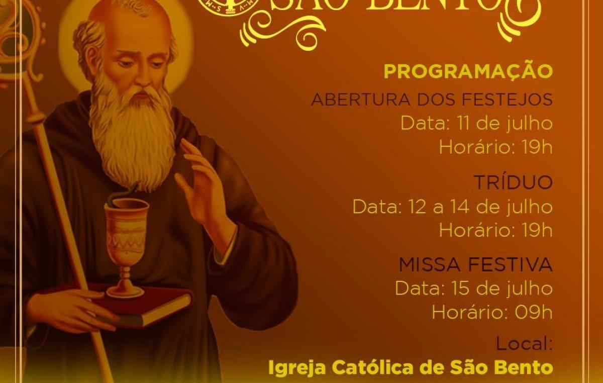 Fiéis irão celebrar o Dia de São Bento com Tríduo e Missa Festiva