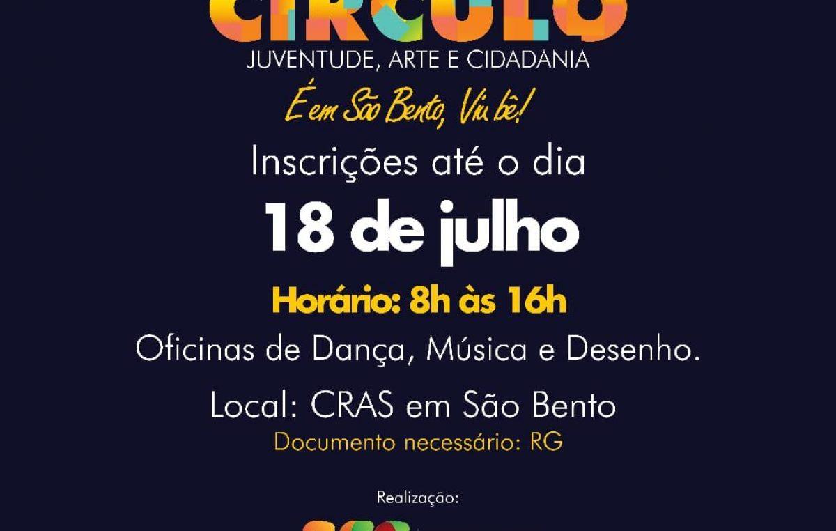 III edição do Projeto Circulô – Juventude, Arte e Cidadania acontecerá entre os dias 18 e 24 de julho, no bairro de São Bento