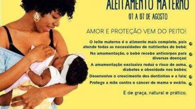 """Agosto Dourado: Saúde promove encontro no Caípe com o tema """"Dê Peito, Dê Saúde"""""""