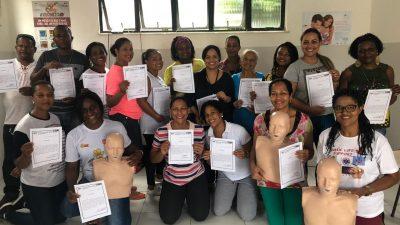 Saúde qualificou Unidades do Caípe de Cima e Monte Recôncavo em RCP (Reanimação Cardiopulmonar)
